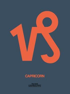 Capricorn Zodiac Sign Orange by NaxArt