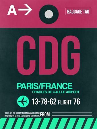 CDG Paris Luggage Tag 1 by NaxArt