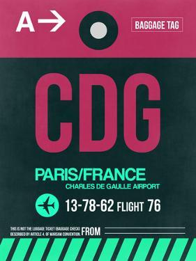 CDG Paris Luggage Tag 1 by NaxArt