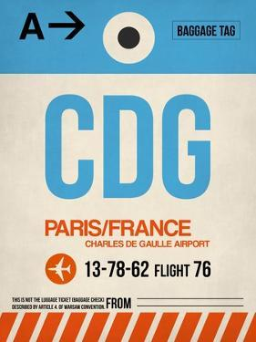 CDG Paris Luggage Tag 2 by NaxArt