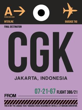 CGK Jakarta Luggage Tag I by NaxArt