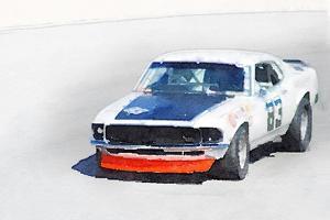 Chevy Camaro Monterey Watercolor by NaxArt