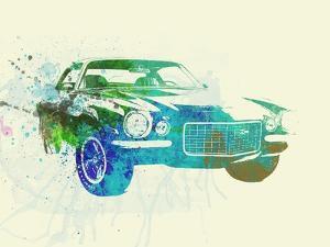 Chevy Camaro Watercolor by NaxArt
