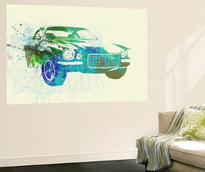 Chevy Camaro Watercolor by NaxArt