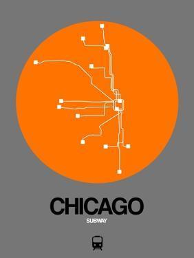 Chicago Orange Subway Map by NaxArt