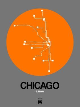 Chicago Orange Subway Map by NaxArt