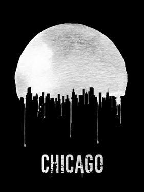 Chicago Skyline Black by NaxArt