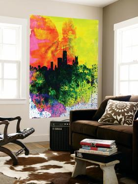 Chicago Watercolor Skyline by NaxArt