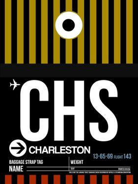 CHS Charleston Luggage Tag I by NaxArt
