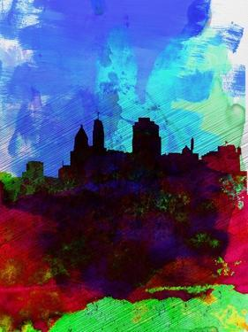 Cincinnati Watercolor Skyline by NaxArt