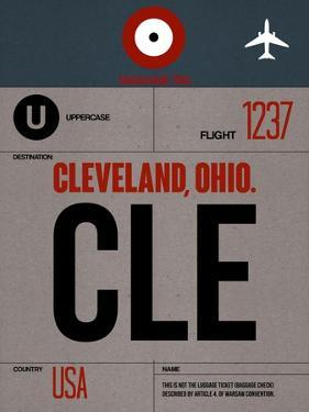 CLE Cleveland Luggage Tag I by NaxArt