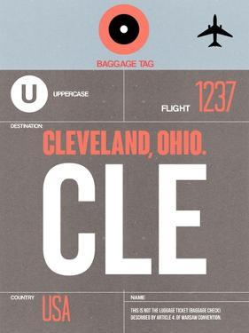CLE Cleveland Luggage Tag II by NaxArt