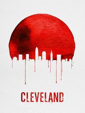 Cleveland Skyline Red by NaxArt