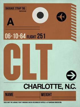 CLT Charlotte Luggage Tag I by NaxArt