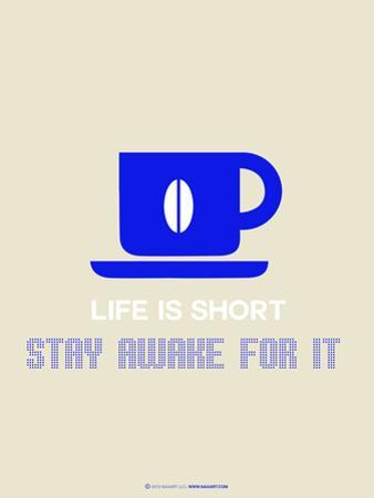 Coffee Poster Blue by NaxArt