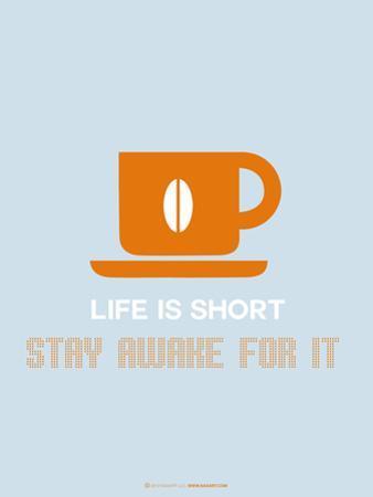 Coffee Poster Orange by NaxArt