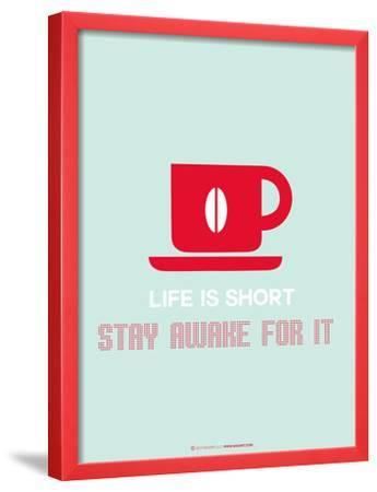 Coffee Poster Red by NaxArt