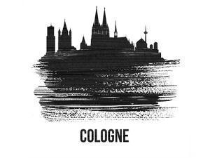 Cologne Skyline Brush Stroke - Black II by NaxArt
