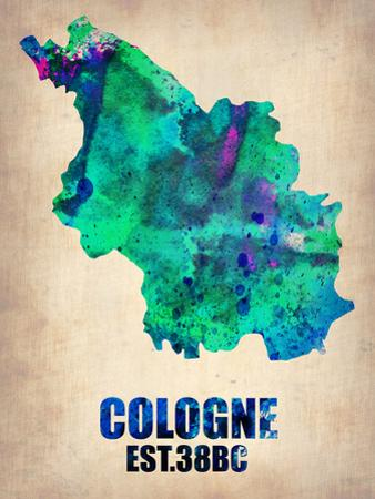 Cologne Watercolor Poster by NaxArt