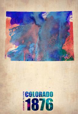 Colorado Watercolor Map by NaxArt