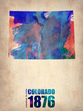 Colorado Watercolor Map by NaxArt