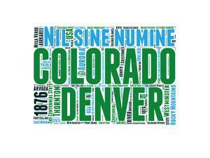 Colorado Word Cloud Map by NaxArt