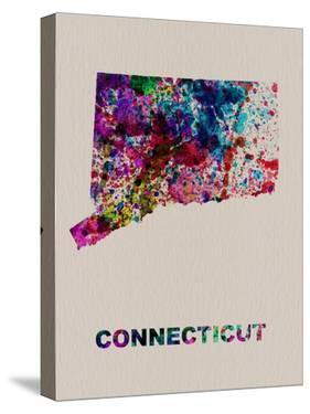 Connecticut Color Splatter Map by NaxArt