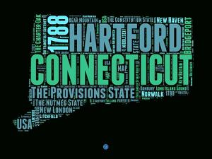 Connecticut Word Cloud 1 by NaxArt