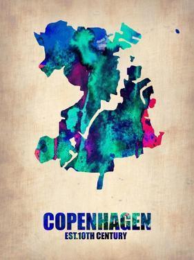 Copenhagen Watercolor Poster by NaxArt