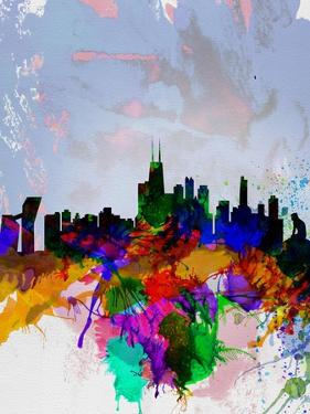 Copenhagen Watercolor Skyline by NaxArt