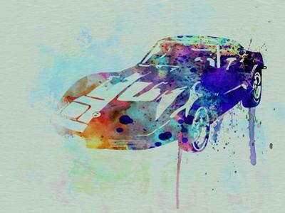 Corvette Watercolor by NaxArt