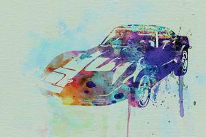 Corvette Watercolor by NaxArt