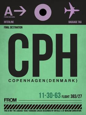 CPH Copenhagen Luggage Tag 1 by NaxArt
