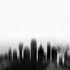 Dallas City Skyline - Black by NaxArt