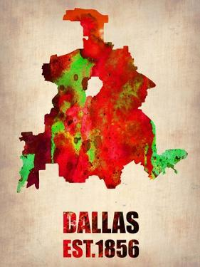 Dallas Watercolor Map by NaxArt