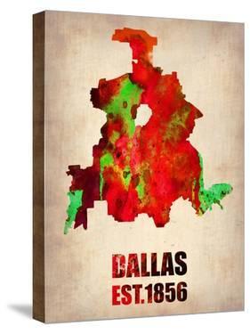 Dallas Watercolor Map by NaxArt