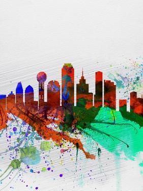 Dallas Watercolor Skyline by NaxArt