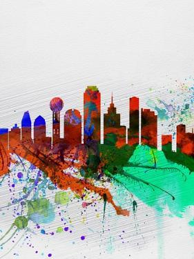 Dallas Watercolor Skyline by NaxArt