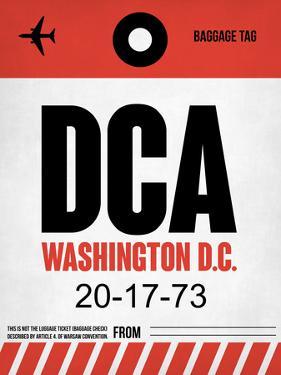 DCA Washington Luggage Tag 1 by NaxArt