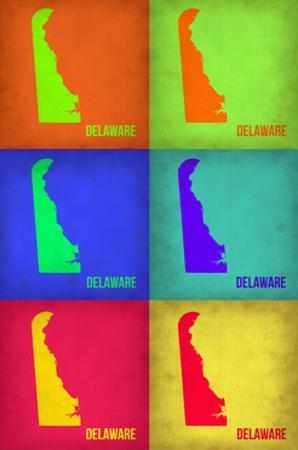 Delaware Pop Art Map 1 by NaxArt