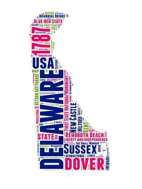 Delaware Word Cloud Map by NaxArt