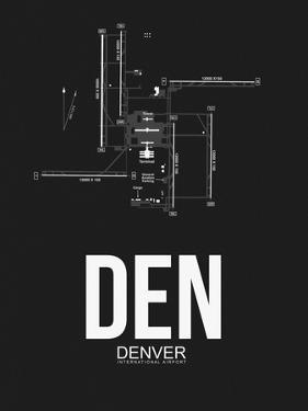 DEN Denver Airport Black by NaxArt
