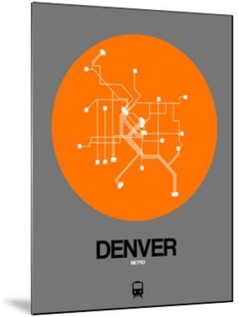 Denver Orange Subway Map by NaxArt