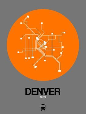 Denver Orange Subway Map by NaxArt