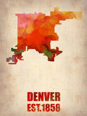 Denver Watercolor Map by NaxArt