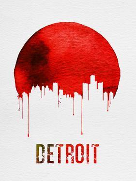 Detroit Skyline Red by NaxArt
