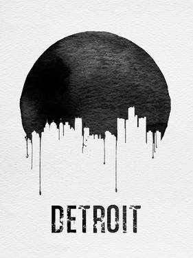 Detroit Skyline White by NaxArt