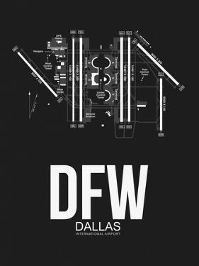 DFW Dallas Airport Black by NaxArt