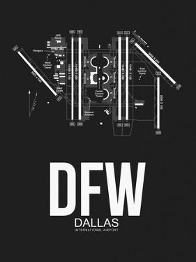 DFW Dallas Airport Black by NaxArt