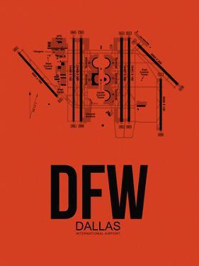 DFW Dallas Airport Orange by NaxArt